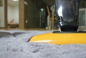 vacuuming clean carpet