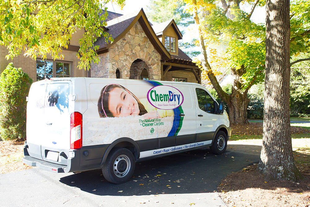 Carpet Cleaning Temecula Valley, CA Van outside a home
